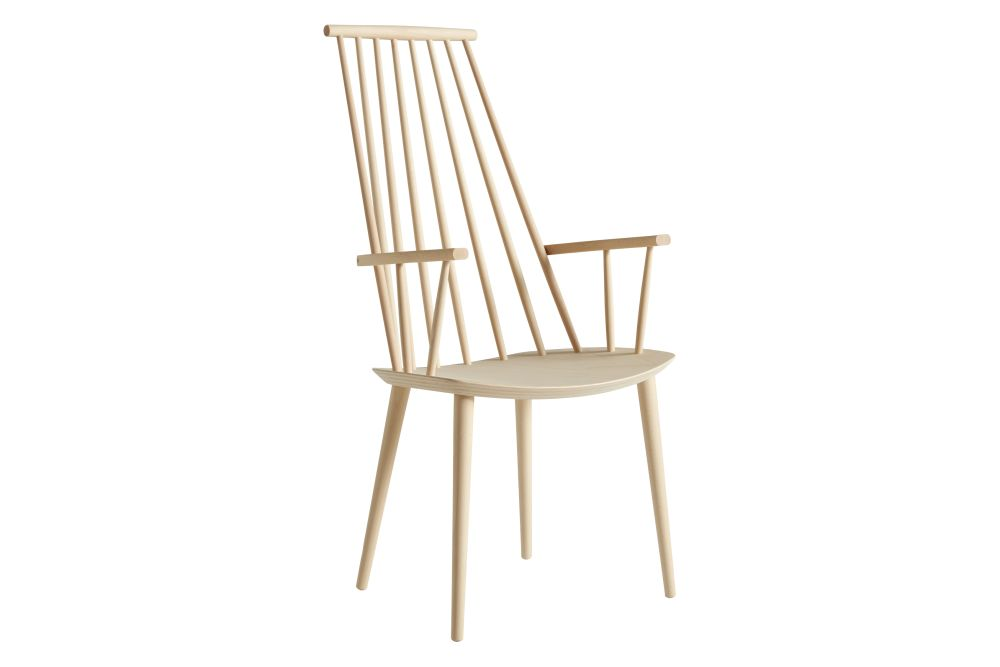 Super J110 Dining Chair Wood Nature Soaped Beech by Hay | Clippings VZ-37