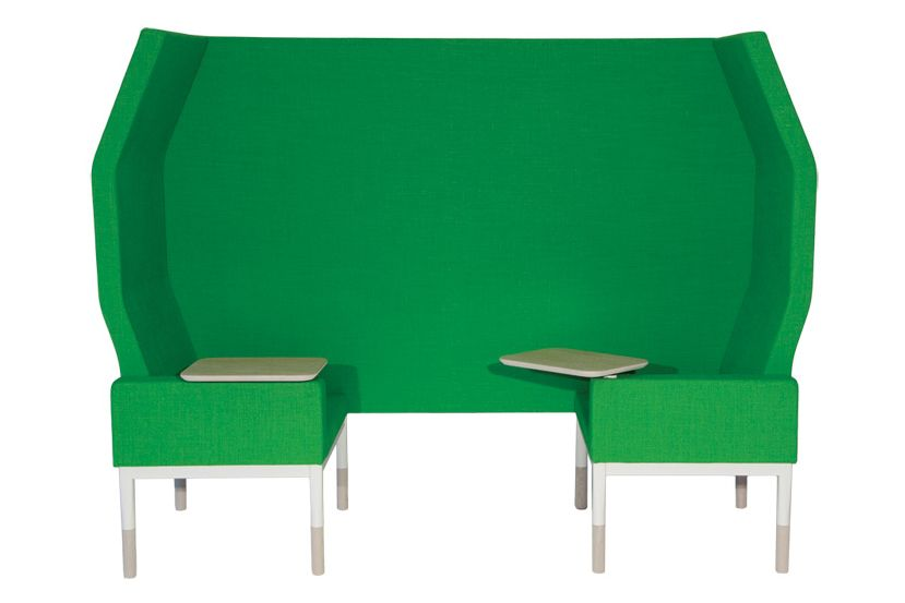 Reform Sofa 2 Seater High Back Dividing Wall Armrest with Clipboards by Johanson