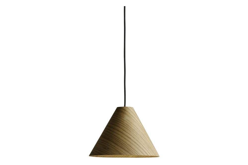 Wood Matt Oak / Black / Medium,Hay,Pendant Lights,ceiling,ceiling fixture,lamp,lampshade,light fixture,lighting
