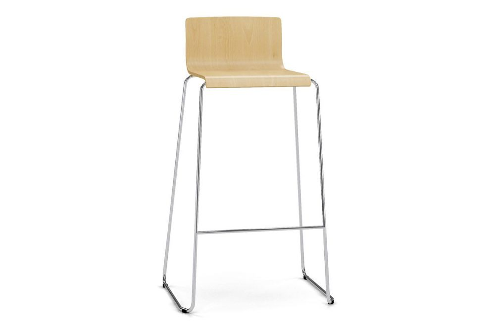 Z1 Beech, H Chrome Metal,Narbutas,Stools,bar stool,furniture,stool