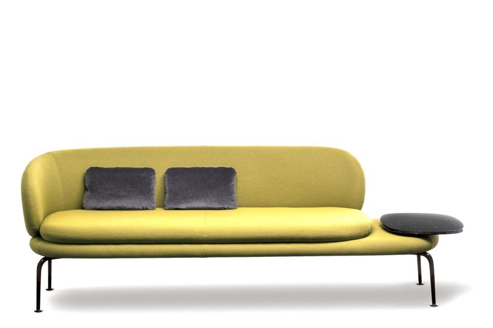 Without Arm - Right Table, RAL 9005 Black, Plum, La Cividina Xtreme,La Cividina,Breakout Sofas,comfort,couch,furniture,sofa bed,studio couch,yellow