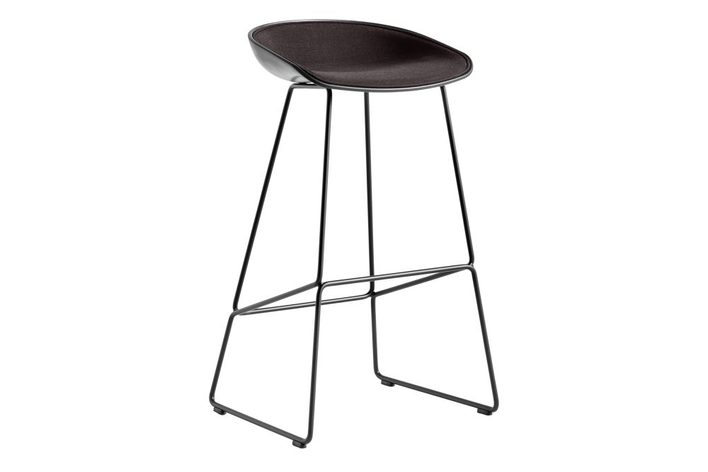 Remix 2 113, Metal Stainless Steel, Plastic Black,Hay,Stools,bar stool,furniture,stool,table