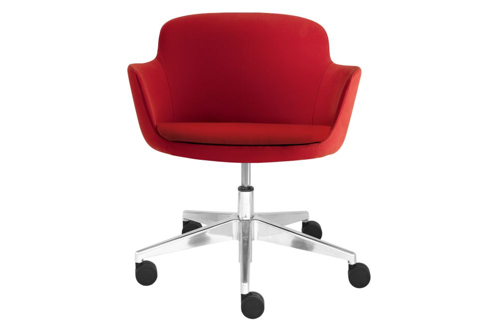 Rubber Castors, Era C03,Narbutas,Conference Chairs,armrest,chair,furniture,line,material property,office chair,plastic,product,red