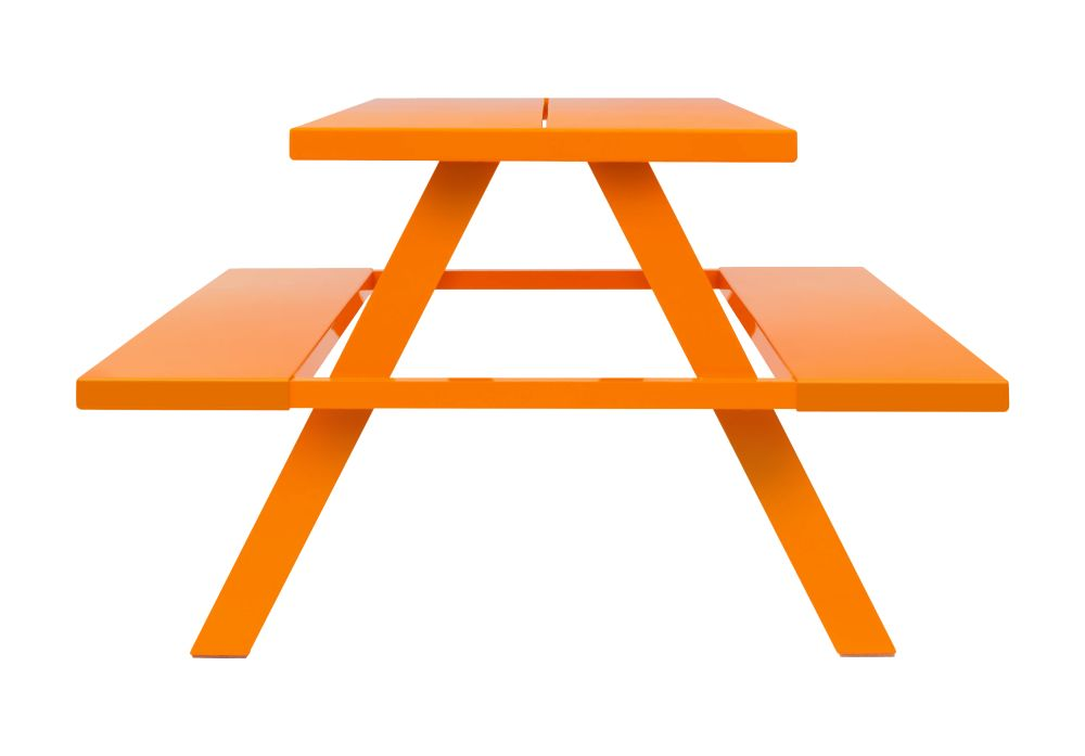 RAL 2003,Jennifer Newman,Breakout & Cafe Chairs,furniture,orange,outdoor furniture,outdoor table,picnic table,table