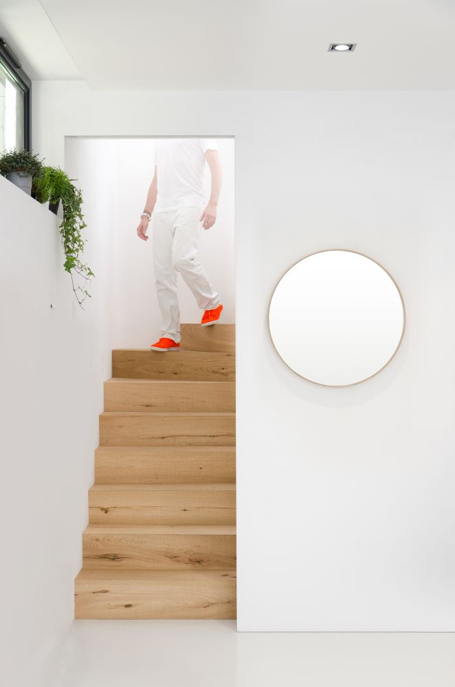 Glance Round 310 Oak,Wireworks,Mirrors,ceiling,design,floor,house,interior design,line,room,stairs,wall,white,wood