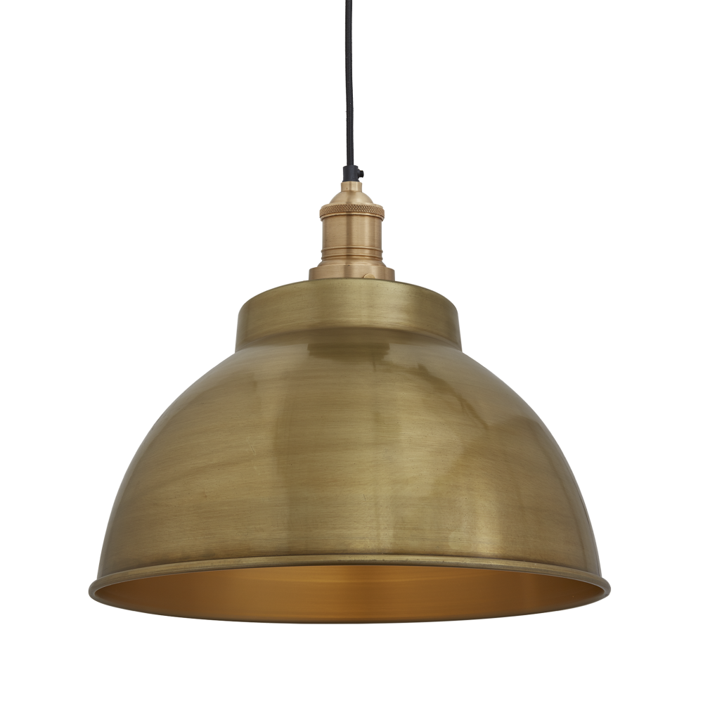 Brooklyn dome pendant light 13 inch brooklyn dome pendant 13 inch brass brass holder by industville