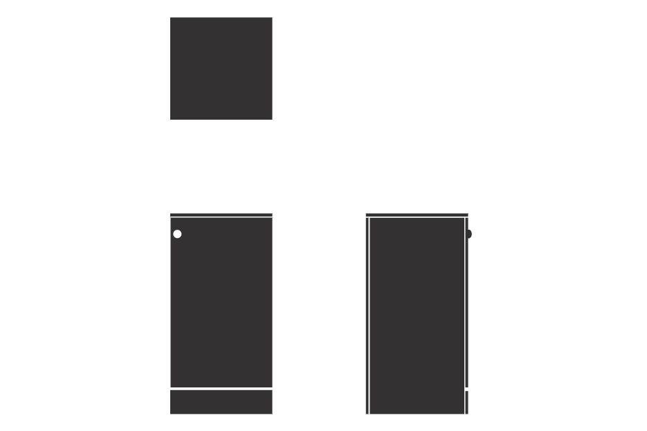 Sorted Storagewall - Low Single - Large MFC 3,Spacestor,Lockers,rectangle