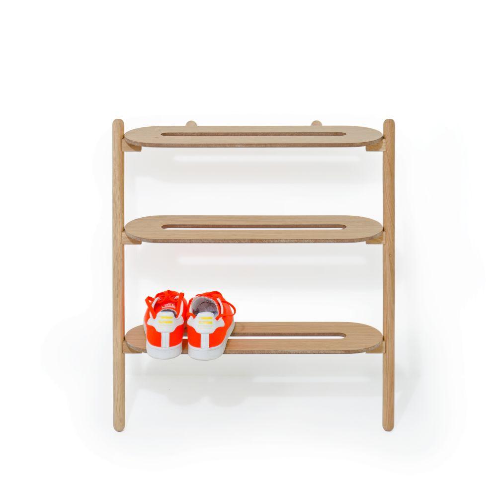 Heel Bar Shoe Tidy - Oak,Wireworks,Accessories,furniture,shelf,shelving,table