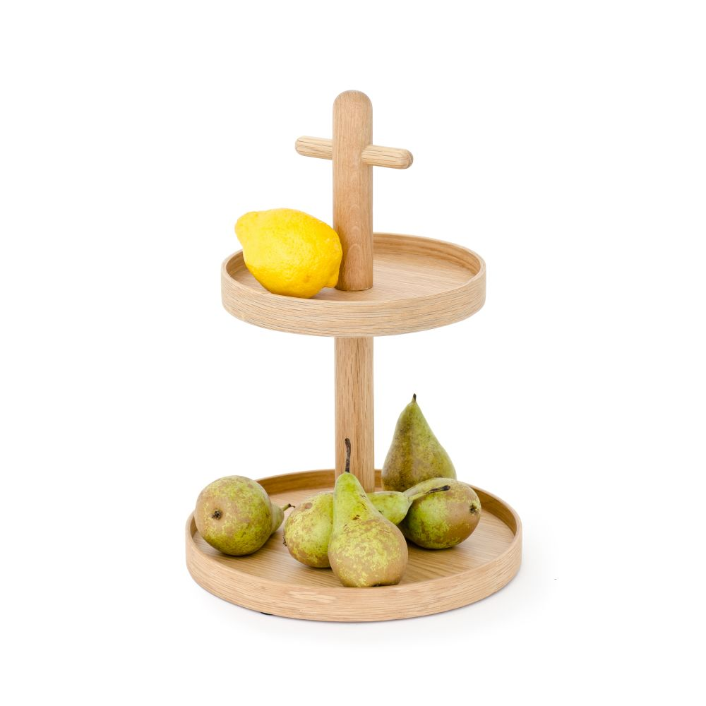 Two Tier Fruit and Condiment Stand,Wireworks,Trays,baby toys,beige
