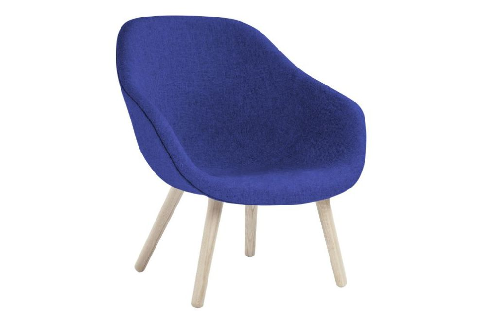 Fabric Group 2, Wood Black Oak,Hay,Lounge Chairs,chair,cobalt blue,electric blue,furniture,purple,violet