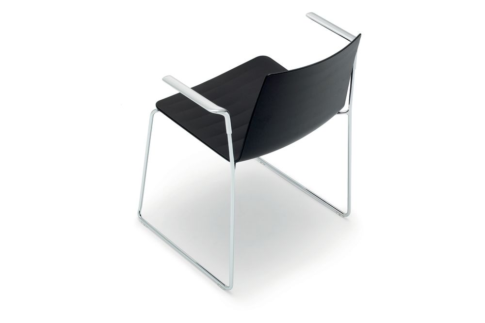 Flex Sled Base Chair with Arms Set of 2 by Andreu World