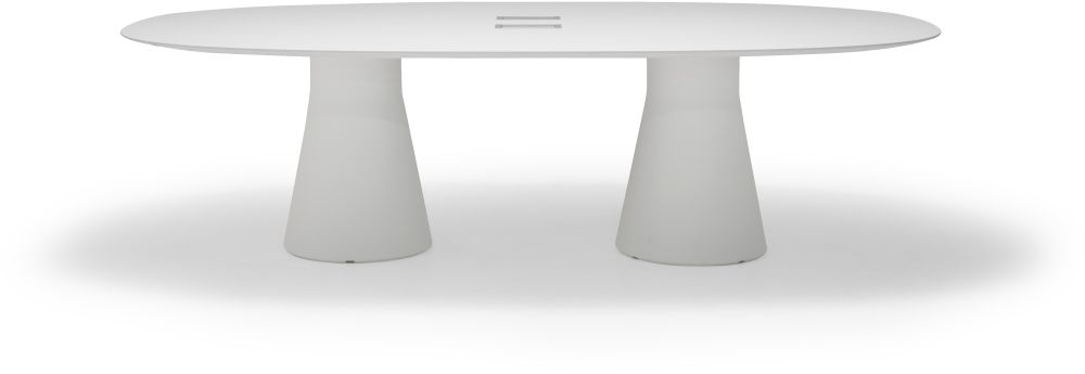 Reverse Lounge Table with 2 Central Base by Andreu World