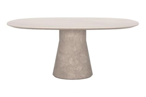 Reverse Lounge Cement Ellipse Table by Andreu World