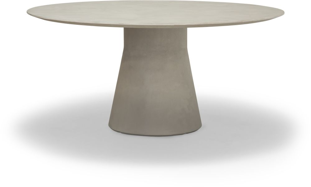 Reverse Lounge Cement Round Table by Andreu World