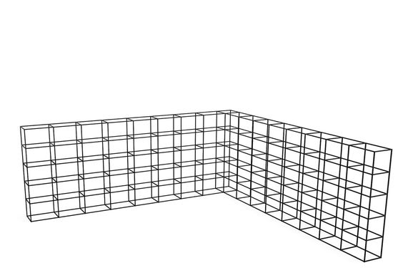 L Grid, 60 - 60, 2 High, 4 Wide, 3 Deep,Spacestor,Workplace Cabinets & Shelving,storage basket