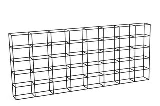 I Grid, 40 - 40, 3 High, 8 Wide, 8 Deep,Spacestor,Workplace Cabinets & Shelving,storage basket