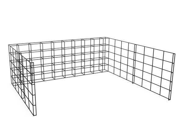 J Combined, 40 - 40, 3 High, 8 Wide, 8 Deep,Spacestor,Workplace Cabinets & Shelving,storage basket