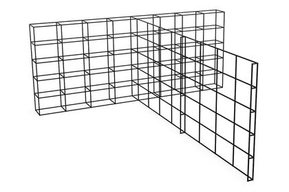 T Combined, 40 - 40, 3 High, 8 Wide, 8 Deep,Spacestor,Workplace Cabinets & Shelving,line