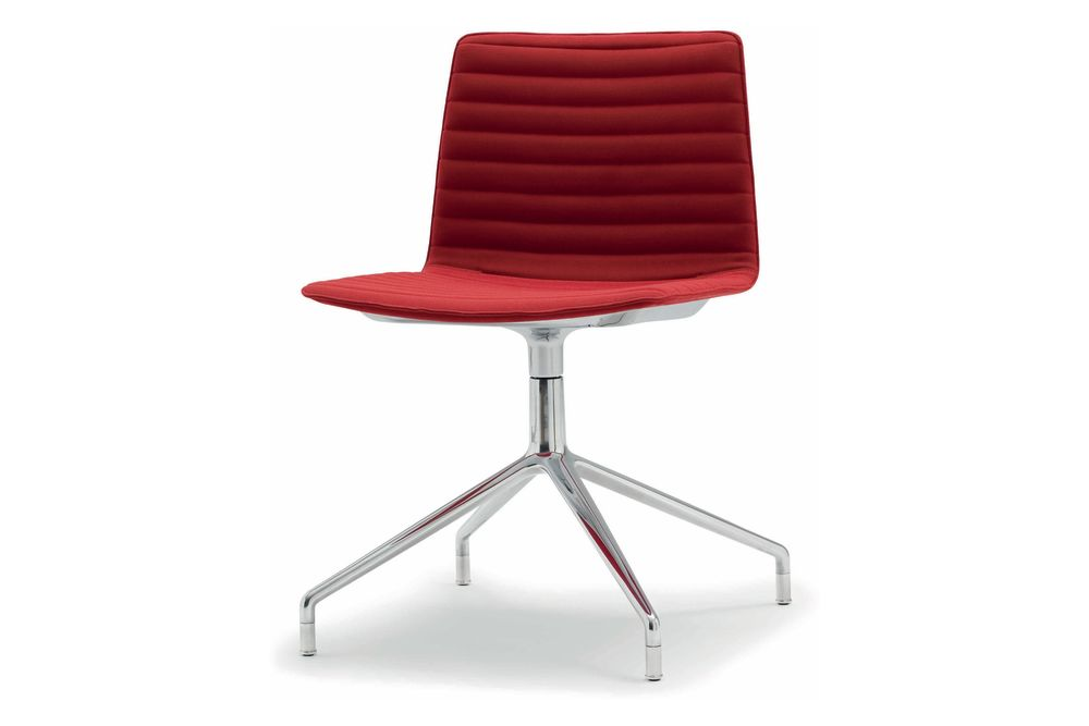 Flex 4-star Swivel Base Chair with Upholstered Shell Pad by Andreu World