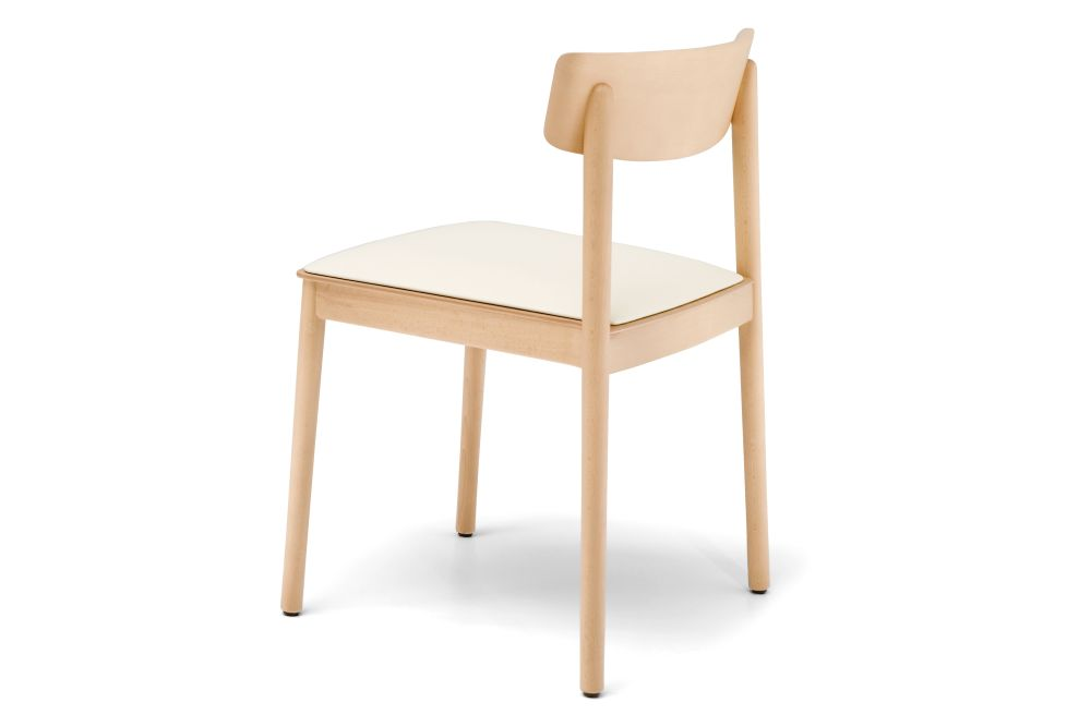 Smart Dining Chair with Upholstered Seat Pad Set of 4 by Andreu World