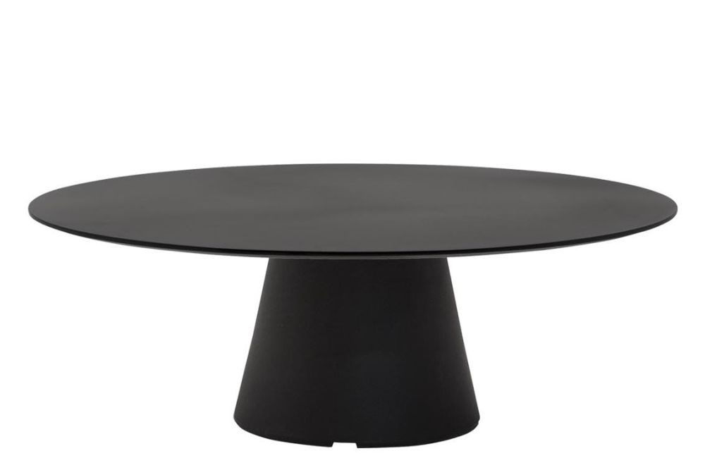 Reverse Occasional Round Coffee Table 90, Polyethylene ...