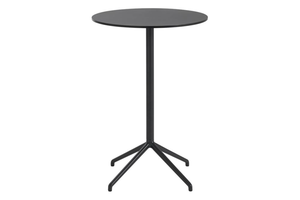 Black Nanolaminate / Black top 75 H 95,Muuto,Coffee & Side Tables,end table,furniture,outdoor table,stool,table