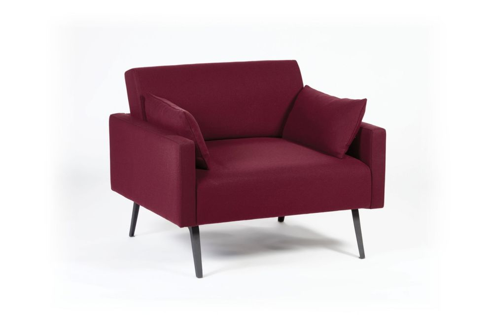 Pricegrp. Ponza, Black,Connection,Breakout Sofas,chair,club chair,couch,furniture,red