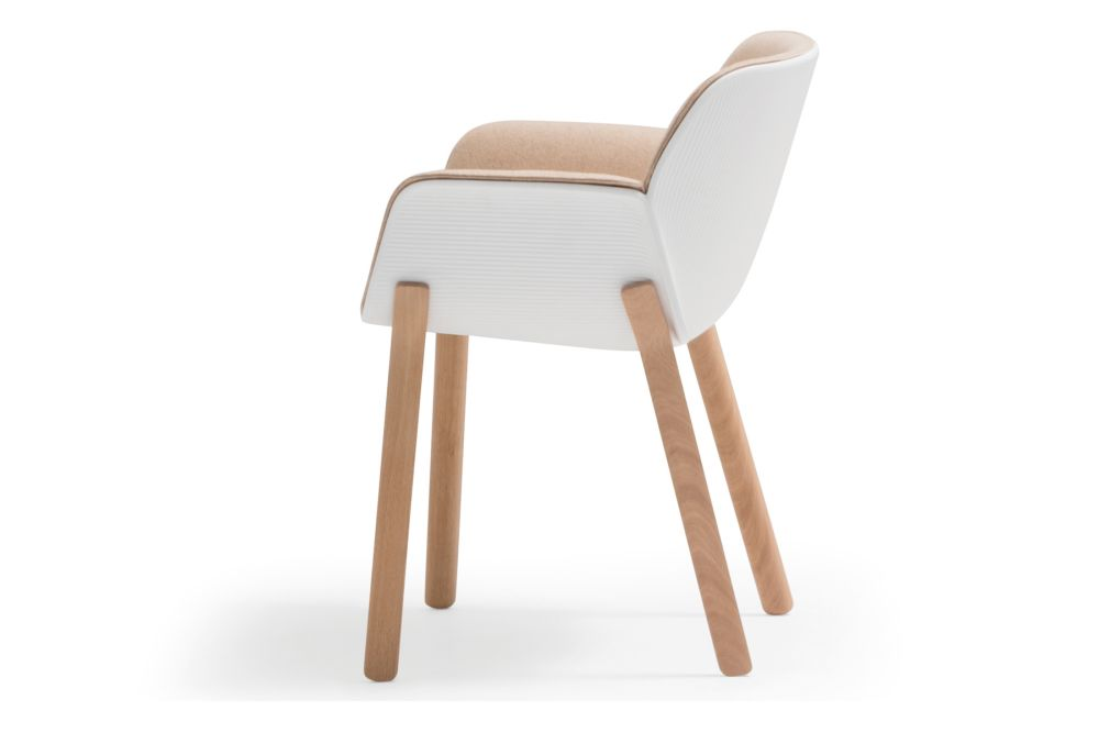 Andreu World Jacquard One, Thermo-polymer finish 6000, Wood finish Ash 305,Andreu World,Breakout Lounge & Armchairs,beige,chair,furniture,plywood,wood
