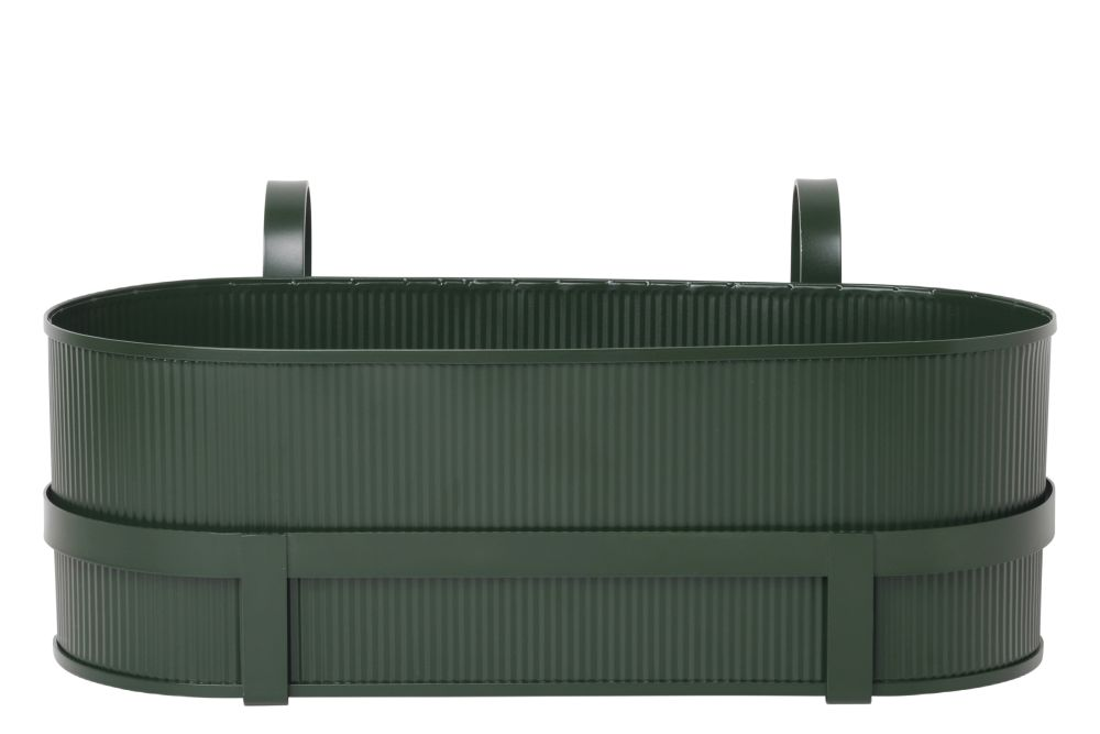 Bau Balcony Box - Dark Green,ferm LIVING,Plant Pots,green,rectangle