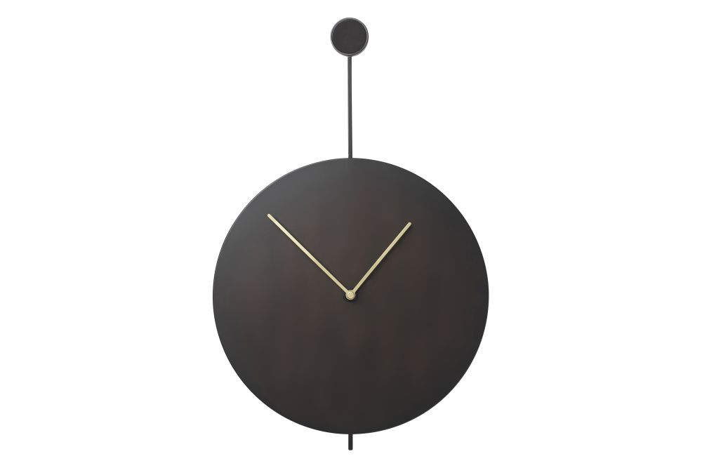 Trace Wall Clock - Black/Brass by ferm LIVING