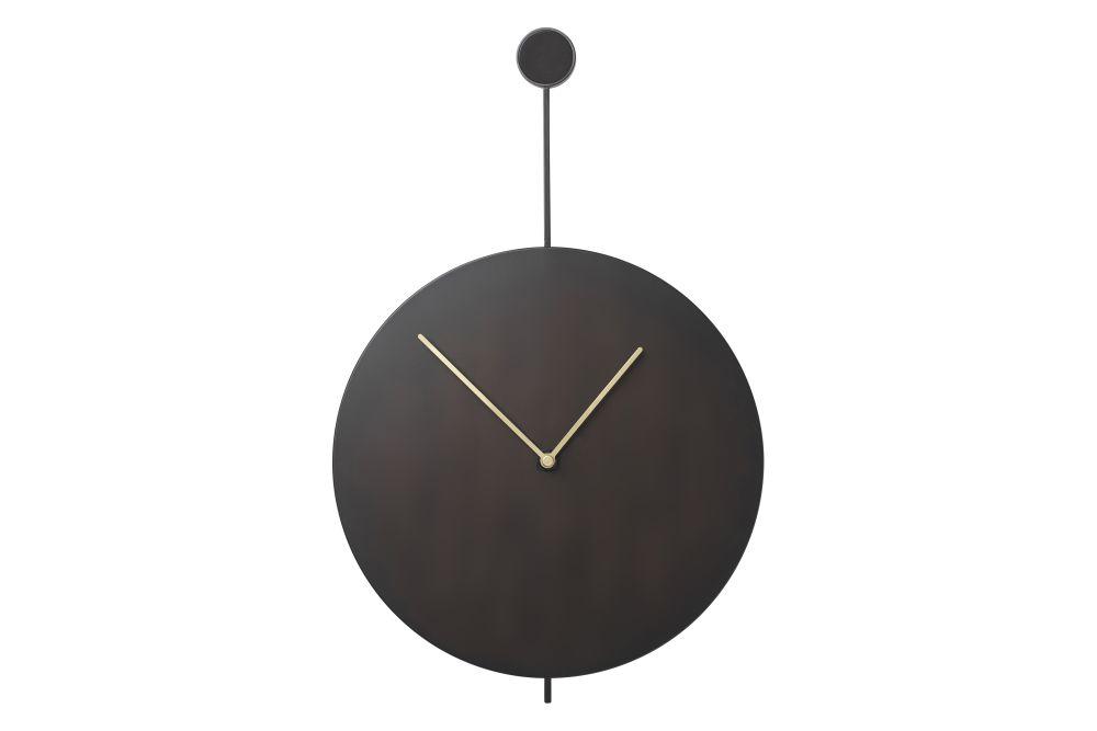 Trace Wall Clock - Black,ferm LIVING,Clocks,clock,furniture,home accessories,pendulum,wall clock