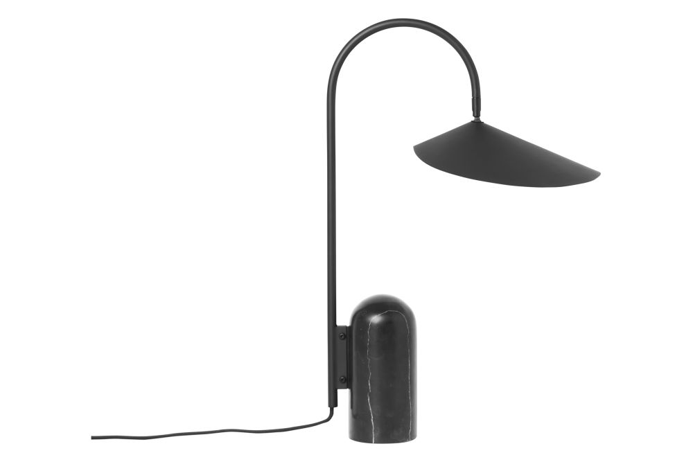 Arum Table Lamp - Black,ferm LIVING,Table Lamps,lamp,light fixture,lighting
