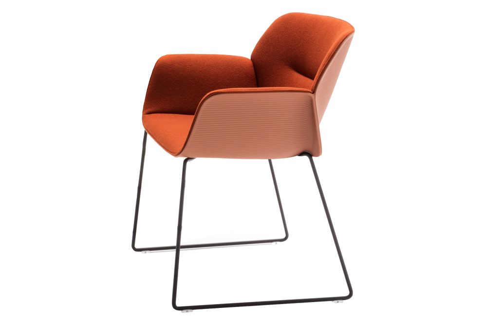 Andreu World Jacquard One, Thermo-polymer finish 6000, Steel finish CRB,Andreu World,Conference Chairs,chair,furniture,orange