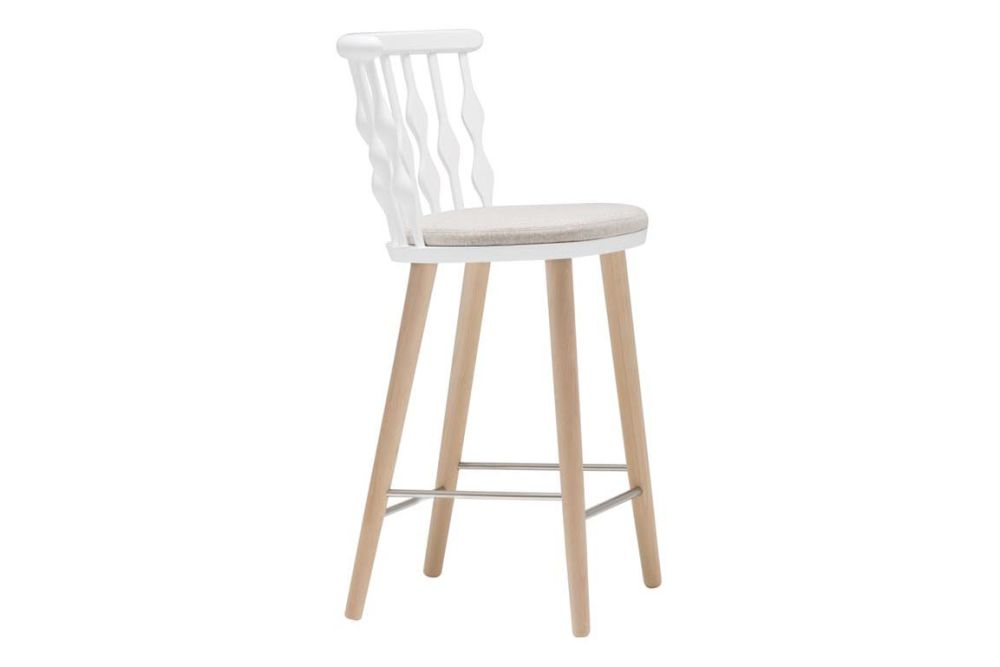 Wood finish Beech, Wood finish Beech, Andreu World Main Line Flax,Andreu World,Stools,bar stool,chair,furniture,stool,white