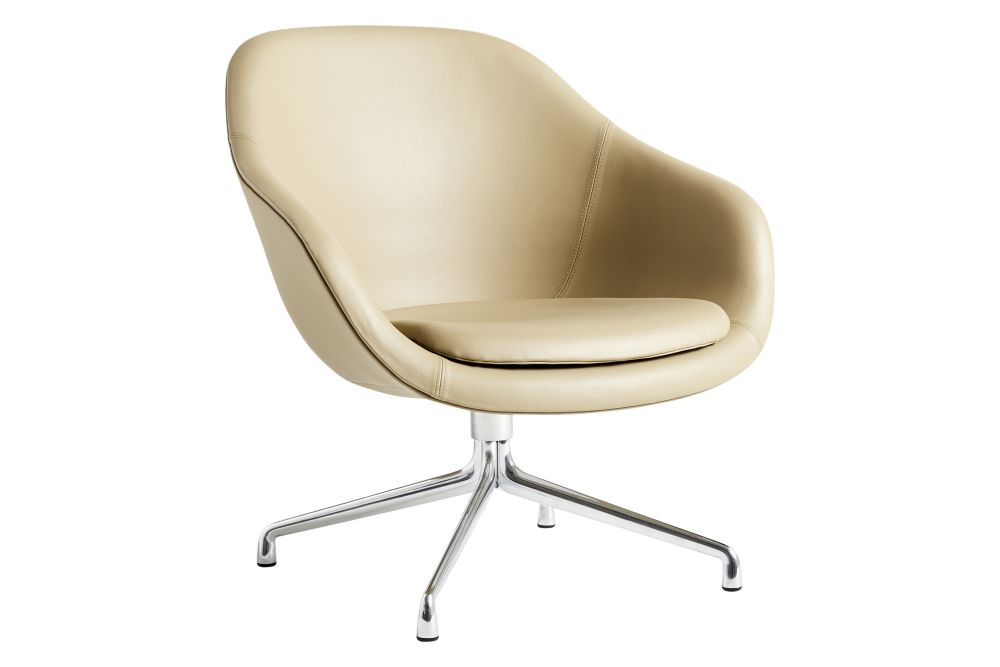 Fabric Group 1, Fabric Group 1, Metal Polished Aluminium,Hay,Lounge Chairs,beige,chair,comfort,furniture,leather,line,material property,office chair,product