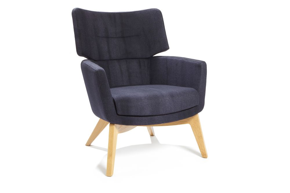 kala high back armchair wood base connection david fox design clippings