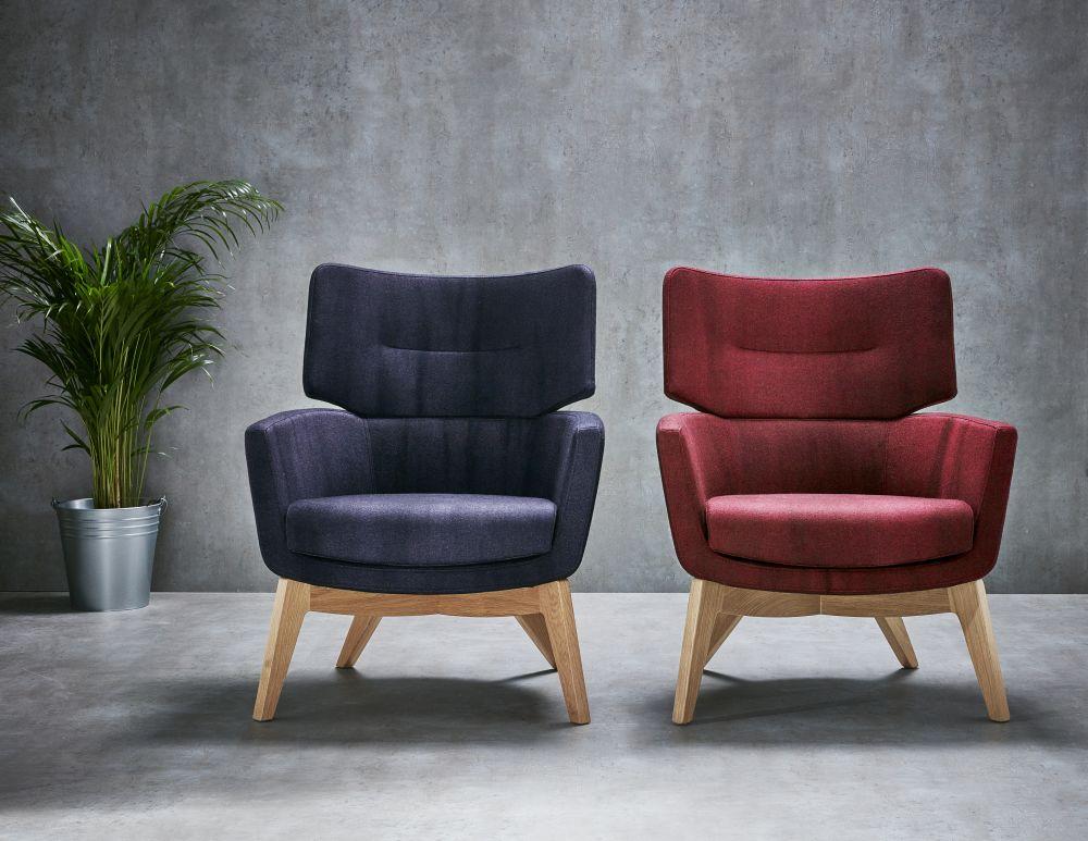 kala high back armchair wood base connection david fox design clippings