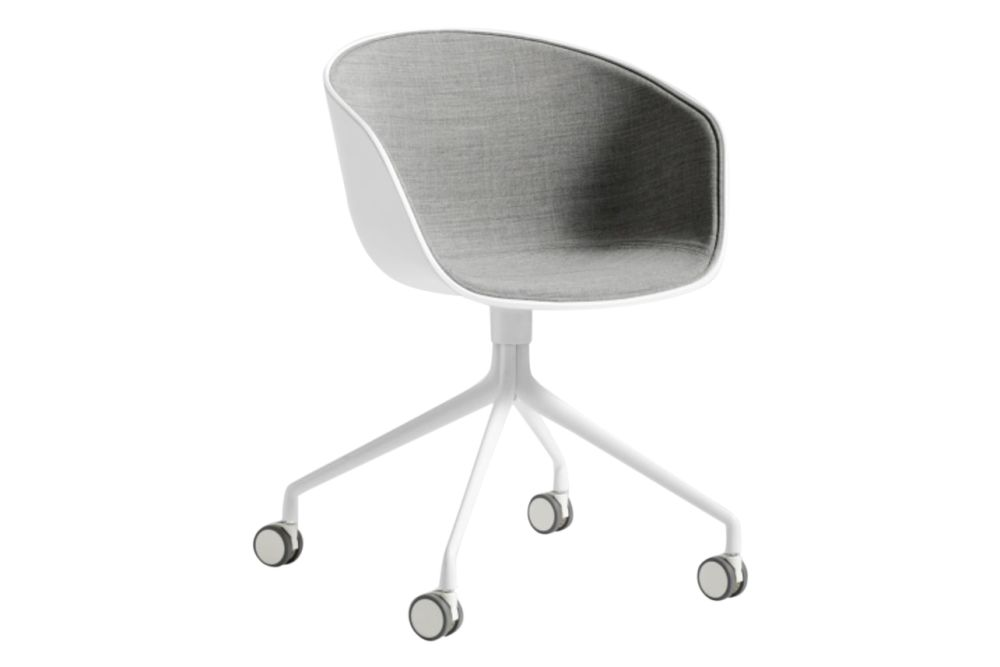 Fabric Group 1, Plastic Cream White, Metal Polished Aluminium,Hay,Office Chairs,chair,furniture,office chair,product,table