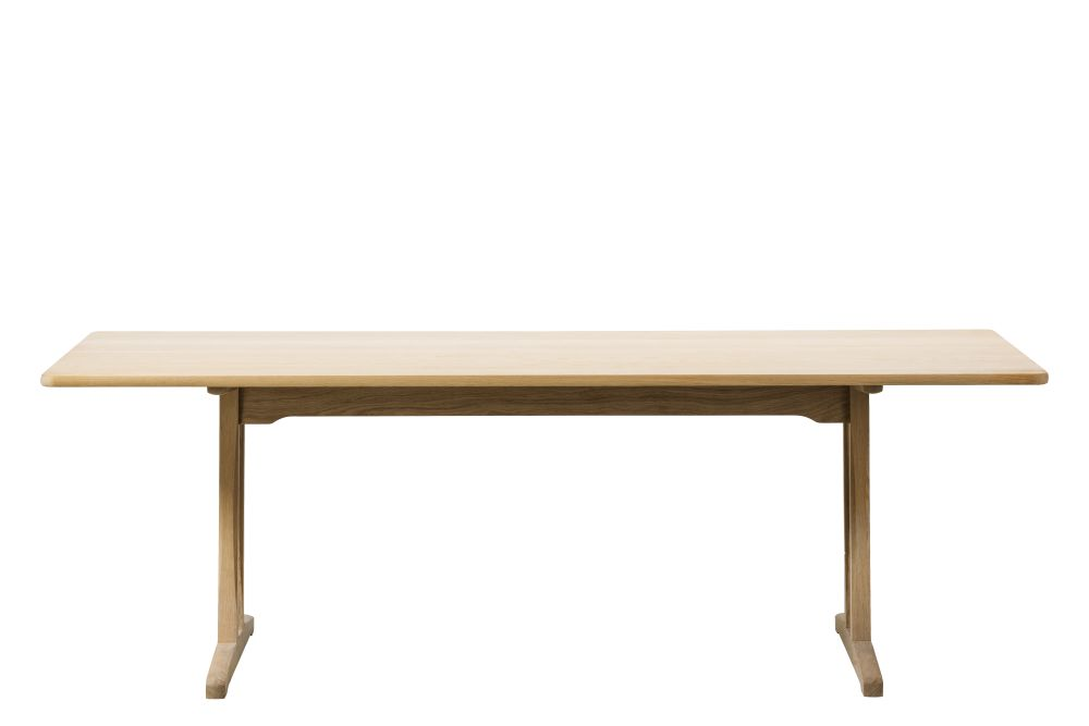 Mogensen C18 Table Oak White Oiled,Fredericia,Dining Tables,coffee table,desk,furniture,outdoor table,plywood,rectangle,sofa tables,table