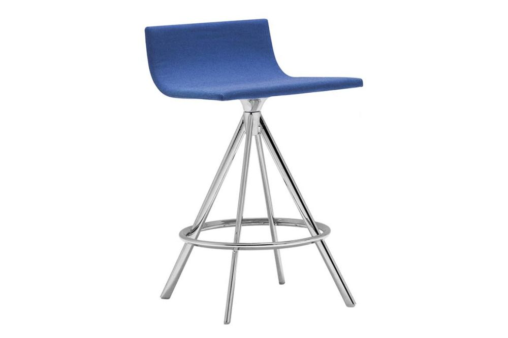 Andreu World Main Line Flax, Polished Chrome Steel,Andreu World,Workplace Stools,bar stool,chair,furniture,stool
