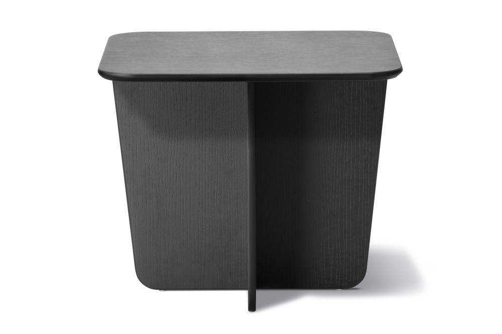 Tableau Side Table, Rectangular Top Black laquered,Fredericia,Coffee & Side Tables,furniture,outdoor table,table,waste container