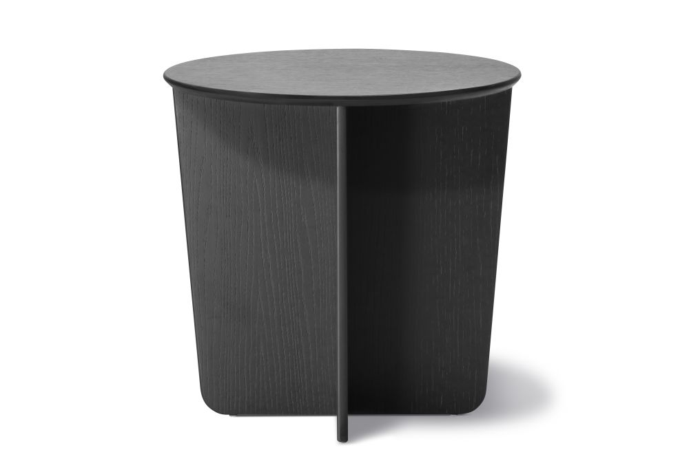 Tableau Side Table, Round Top Black laquered,Fredericia,Coffee & Side Tables,cylinder,end table,furniture,outdoor table,table