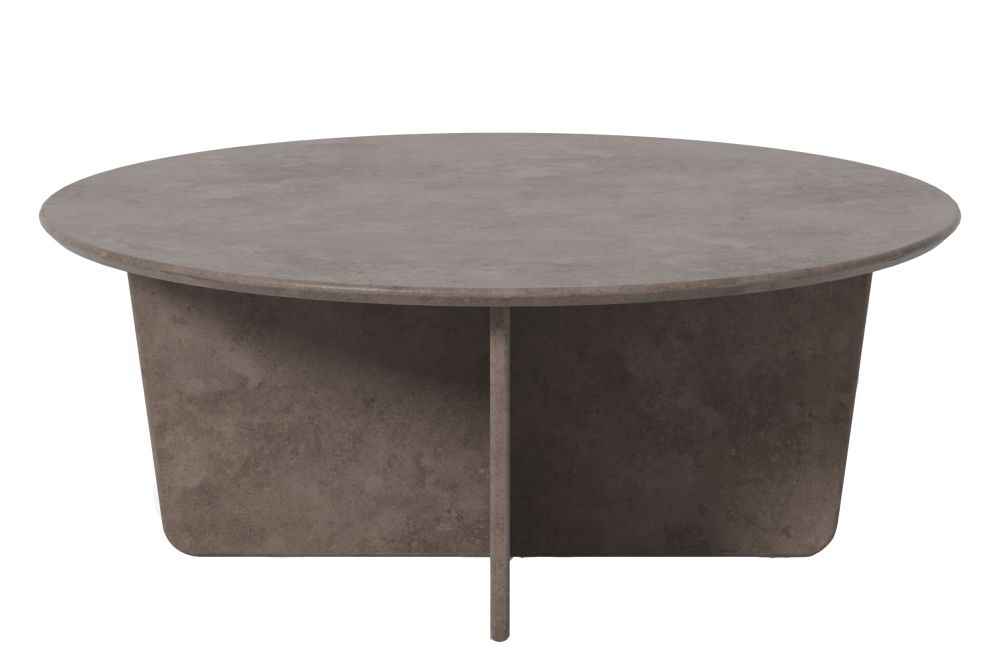 Tableau Coffee Table, Dark Atlantico Limestone, Round Top,Fredericia,Coffee & Side Tables,coffee table,end table,furniture,outdoor table,table