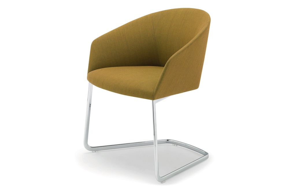 Polished Chrome Steel, Andreu World Main Line Flax,Andreu World,Breakout Lounge & Armchairs,beige,chair,furniture