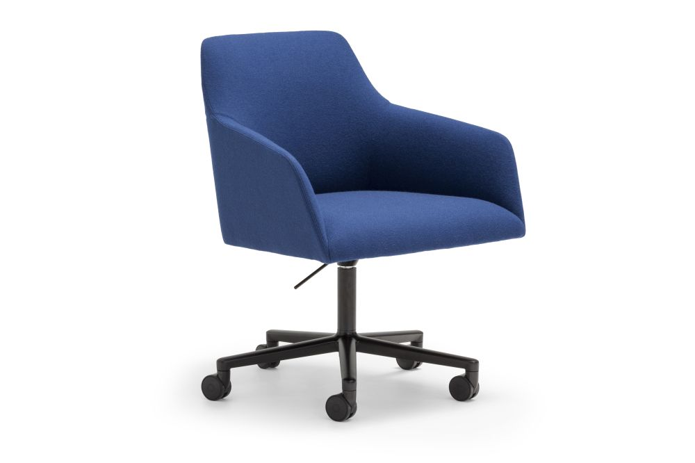 Aluminium Finish White, Andreu World Main Line Flax,Andreu World,Conference Chairs,armrest,chair,cobalt blue,electric blue,furniture,line,material property,office chair,product