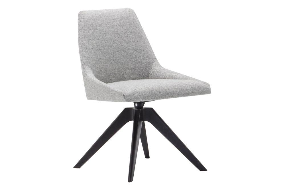 Alya Wood Base Swivel Chair by Andreu World