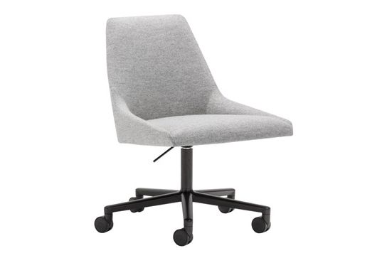 Aluminium Finish White, Andreu World Main Line Flax,Andreu World,Conference Chairs,armrest,chair,furniture,line,office chair,product