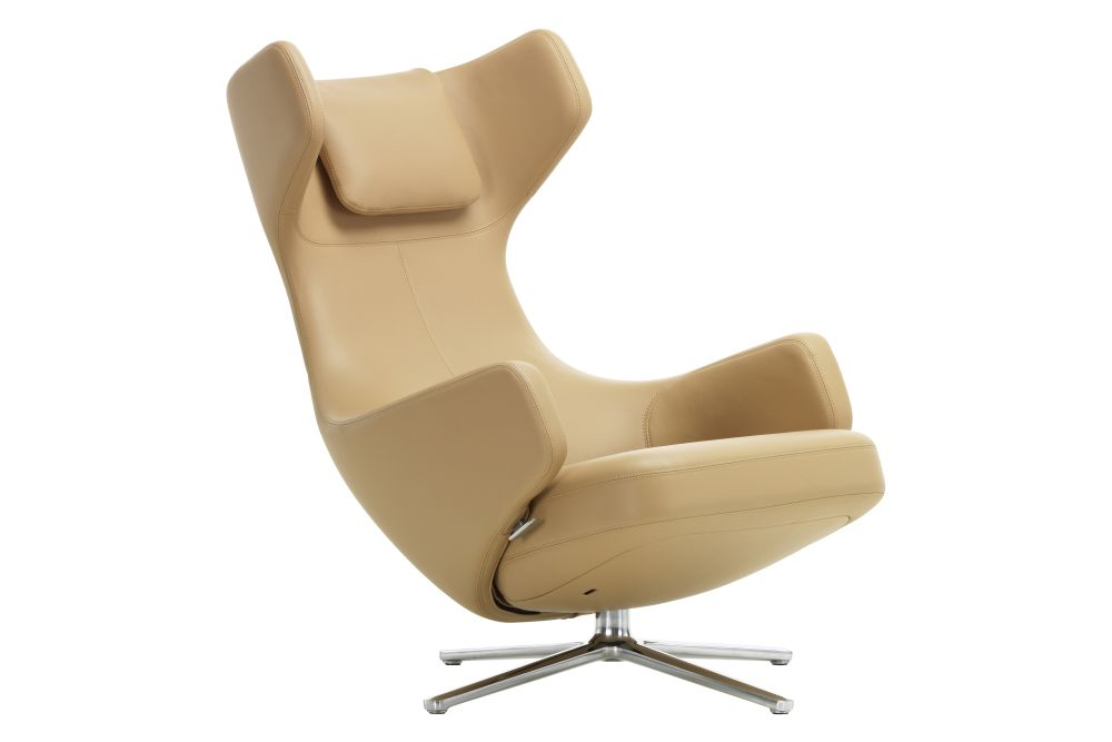 04 glides for carpet, 02 alumium polished, Dumet 02 beige melange, 01 410mm,Vitra,Lounge Chairs,beige,chair,furniture