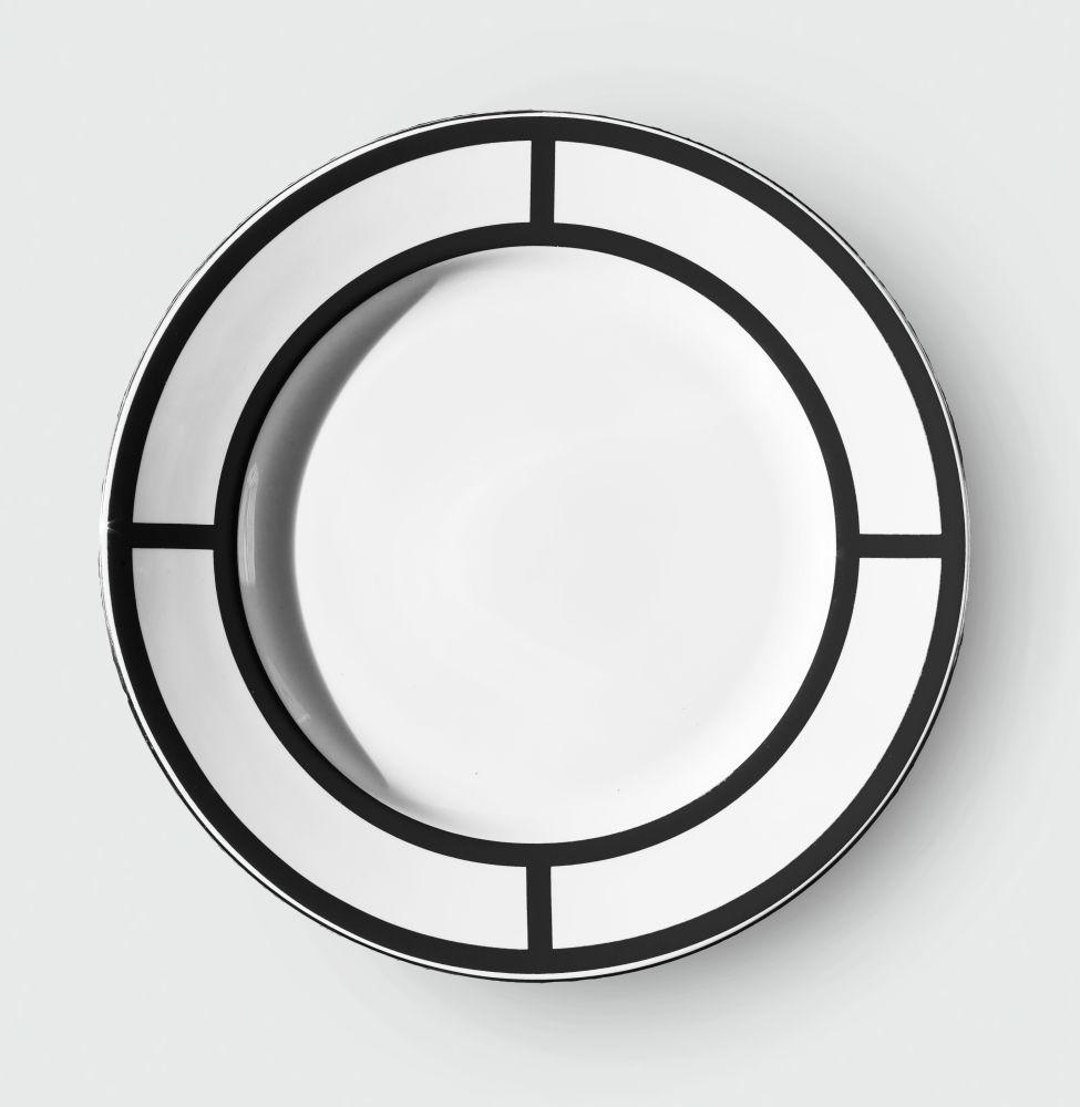 PALLADIAN BLACK DINNER PLATE   DESIGN NO.1 by CUSTHOM