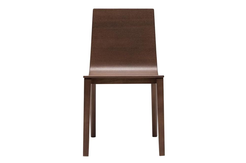 Lineal Wood Base Chair Set of 2 by Andreu World